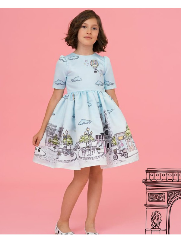 Pale blue Paris dress