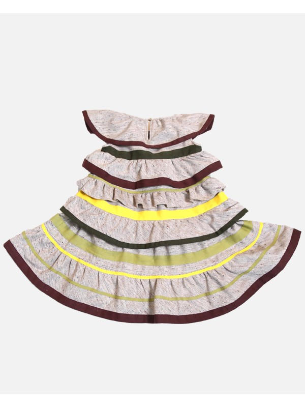 Tiered Ribbon Pollera Dress