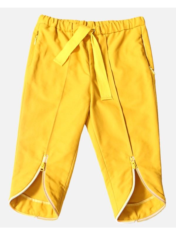 Ankle Zip Cropped Trousers