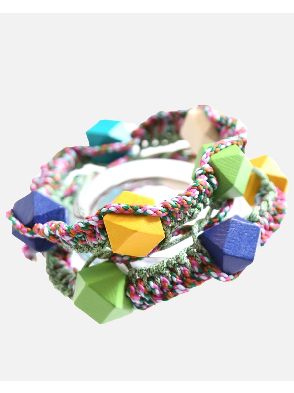 Beaded Macrame Rope Bracelet