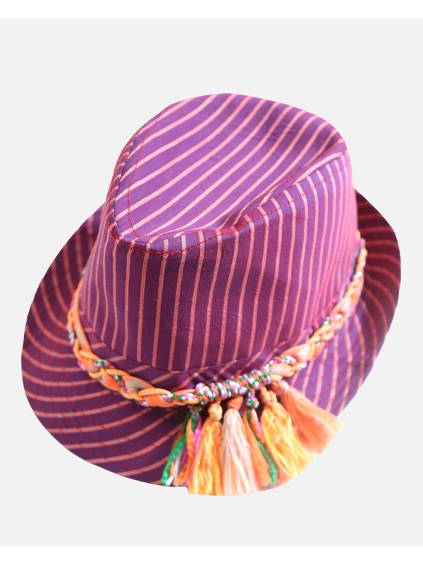Multi Colored Rope Fedora