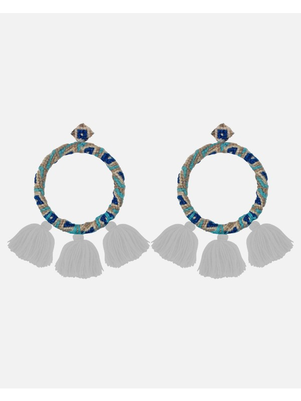 Sandra Earrings Blue