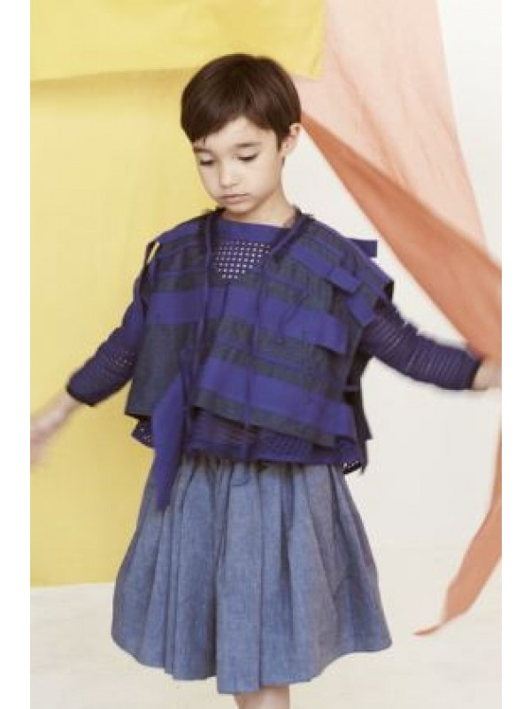 Ribbon Trimmed Tiered Tunic