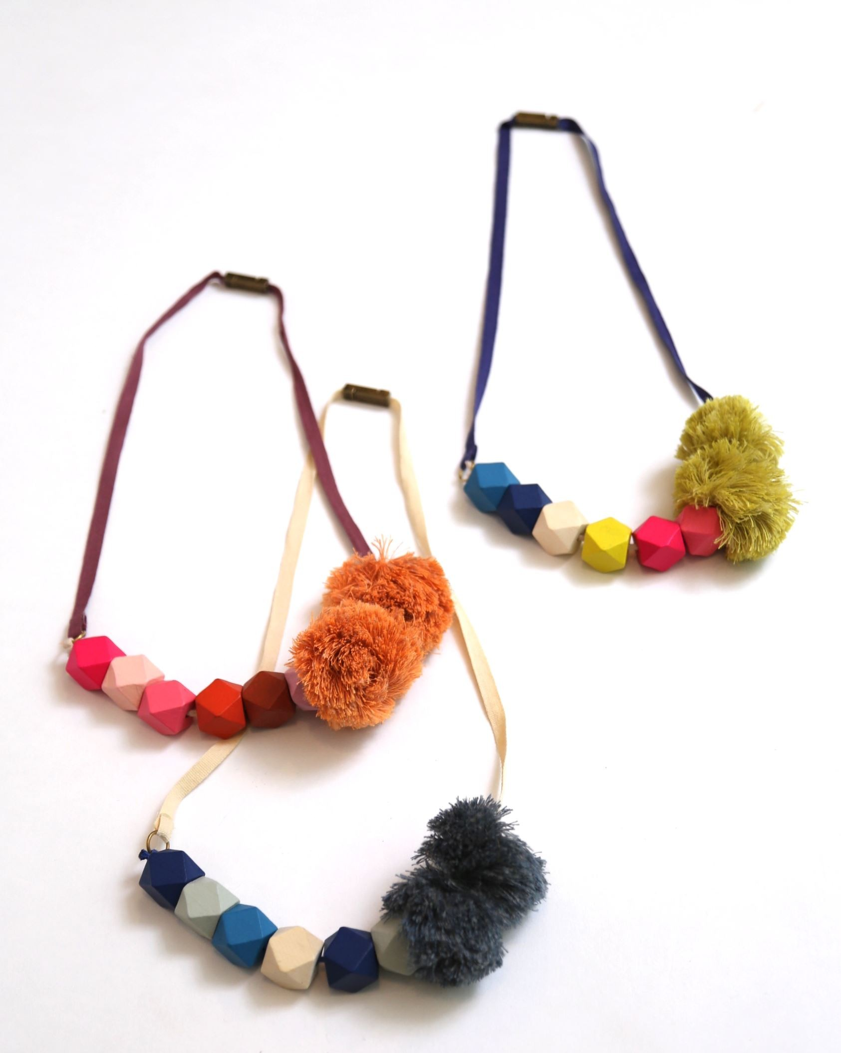 Pom Pom Bead Necklace