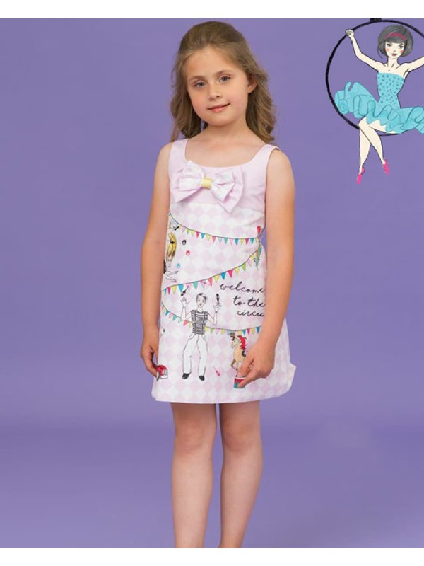 Lilac circus dress with bow
