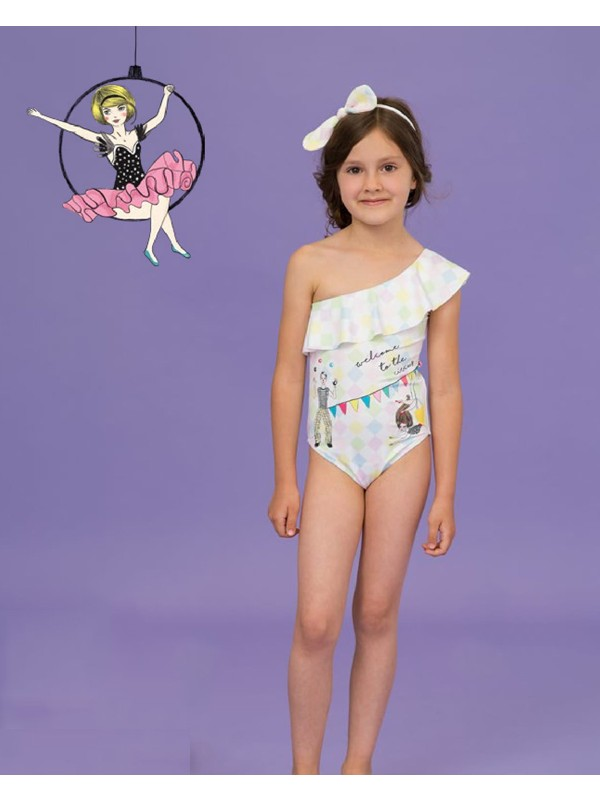 Circus one shoulder swimsuit