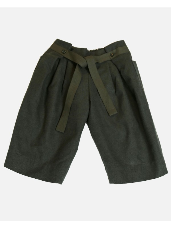 Pleated Paperbag Cropped Trousers