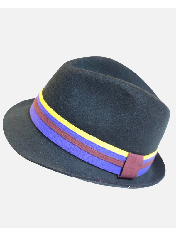 Triple Striped Felt Fedora