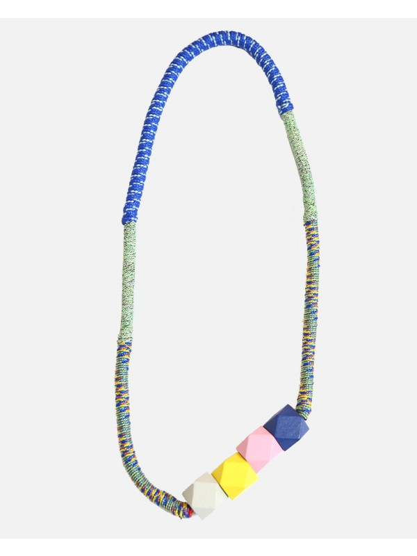 Rope Whipped Bead Necklace