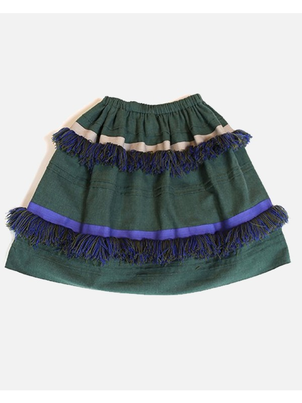 Maritza Fringed Tiered Skirt