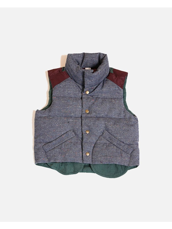 Patchwork Down Filled Vest